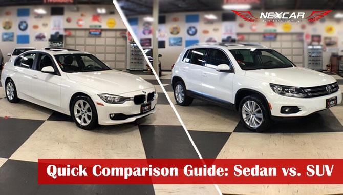 Quick Comparison Guide: Sedan vs. SUV