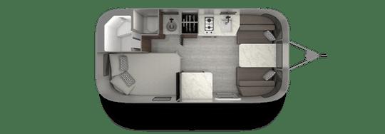 Airstream Caravel 19CB Floorplan