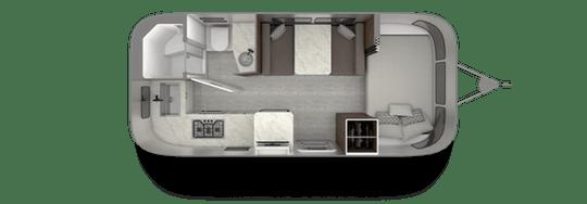 Airstream 20FB Floorplan