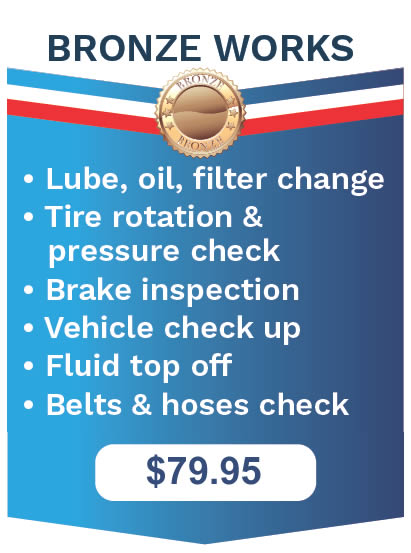 The Works Oil Change Vehicle Maintenance Bronze Package