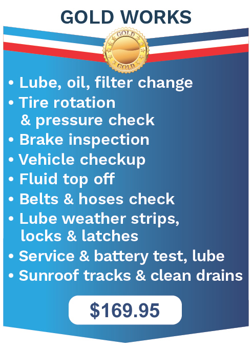 The Works Oil Change Gold Package