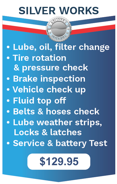 The Works Oil Change Vehicle Maintenance Silver Package