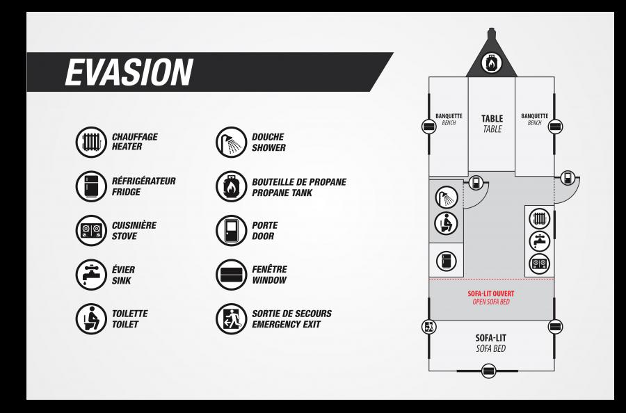 Evasion-floorplan